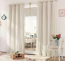 BLOCKOUT EYELET CURTAINS Bridal Lace GIRLS Curtain Latte 180cm x 230cm (W x H)