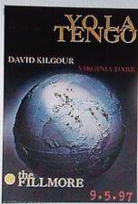 YO LA TENGO F287 FILLMORE POSTER Virginia Dare David Kilgour Michael Laurence