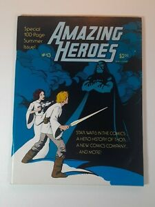 Amazing Heroes #13 July '82  100 pg Summer Issue Featuring Star Wars