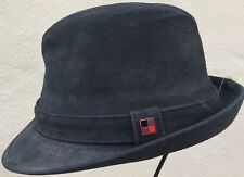 Woolrich Black trilby Gatsby M 100% genuine leather Fedora hat Medium 56-57 cap