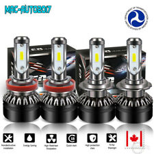 H7 + H11 Combo LED Headlight Bulbs Kit High Low Beam 12000LM 6000K Driving Lamps