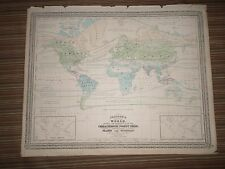 Large Johnson's Map of the World (1867) A.J. Johnson, New York