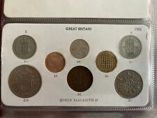 More details for 1955 great britain elizabeth ii coin year set half crown to farthing