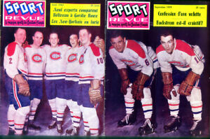 2 - Issues of Sport Revue  French Magazine- Ralph Backstrom - Montreal Canadiens