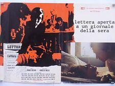 LETTERA APERTA A UN GIORNALE DELLA SERA dramma politico di Maselli fotobusta1970