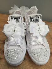 Customised Wedding Converse To Match Your Colour Scheme Bling Pearl Size 3-9