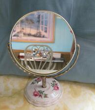 Vintage Magnifying Mirror on Porcelain Base