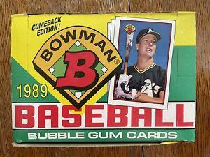 1989 BOWMAN MLB Baseball Trading Card 36 Count Wax Box Unopened Packs Griffey