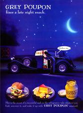 """1994 Grey Poupon Mustard """"Pardon Me..."""" Late Night Snack promo print ad"""