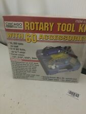 New Chicago Electric Power Tools Rotary Tool Kit w/ 60 accessories 41695