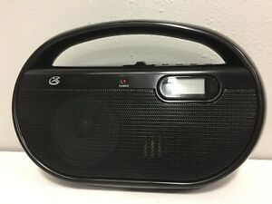 GPX R602B Portable Speaker with AM/FM Radio and Digital Clock