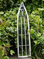 Large Decorative Gothic Arched Door Metal Framed Garden Wall Mirror Arch 100cm