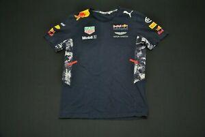 Puma Red Bull Racing Shirt Men's Medium M Tag Heuer Aston Martin