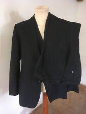 """Mens Vintage Retro Jolliffe's Blue 3 Piece Pinstripe Suit W 36-38"""" L 32 Chest 40"""