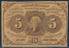 Fr1230 5¢ Issue Fractional - Au+ - Straight Edges With Monogram Bt717