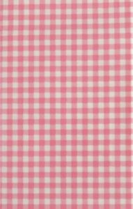 Mainstream Gingham Small Check Pink Vinyl Flannel Back Tablecloth Various Sizes