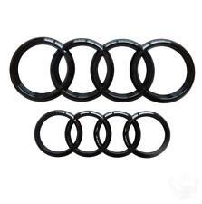 Audi Gloss Black Front Rear Badge Rings 285x99mm 216x75mm Q3 Q5 SQ5 Q7 RS7 A6 A7