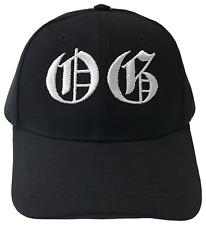 OG Original Gangster Old English Embroidered Black & White Baseball Cap Caps Hat