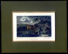 Jagd - Pferd - EARTH STOPPING - Kupferstich 1817