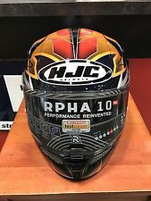 New HJC RPHA-10 Pro Elsworth Full-Face Helmet, MC-6/Orange/Black/Red Repsol L