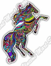 "Horse Abstract Colorful Mustang Gift Idea Car Bumper Vinyl Sticker Decal 4""X5"""