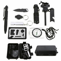 Outdoor Emergency Survival Gear Kit Camping Tactical Tools 10 in 1 SOS EDC Case