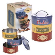 Boites et bocaux vintage/rétro en métal pour le rangement de la cuisine