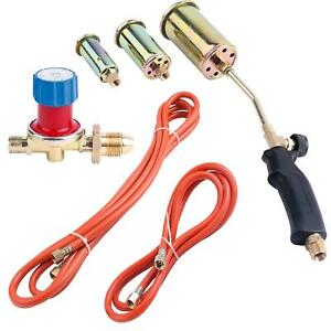 Propane Butane Gas Torch Burner Blow Plumbers Roofers Roofing Brazing Set