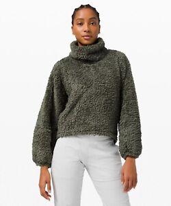 NWT Lululemon Warm Restore Sherpa Pullover, Size XS/S