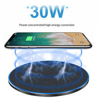 30W Qi Wireless Fast Charger Dock For iPhone 12 Pro Max For Galaxy S30 Note 10+