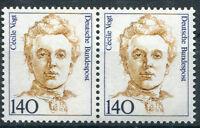 Bund 1432 postfrisch waagerechtes Paar ungefaltet Frauen BRD 1989 MNH