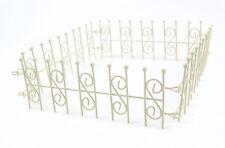 Miniature Fairy Garden Cream 4 way Fence / Gnome  Dollhouse 50423