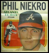 1970 Topps Poster Phil Niekro - Atlanta Braves (Hall of Fame) - NEAR MINT