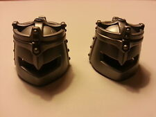 PLAYMOBIL: 2 CASQUES CHEVALIERS/ HELMET HELM CASCO KNIGHT RITTER CABALLERO#90