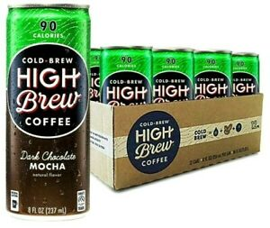 High Brew Cold Brew Coffee Dark Chocolate Mocha Flavored 8 oz ( Pack of 12 )