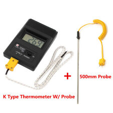 TM-902C K Type Digital LCD Temperature Detector Thermometer W/ Probe+500mm Probe