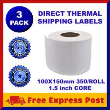 3 Rolls Direct Thermal 4x6 Labels 100 X 150mm Fastway EParcel Startrack Zebra