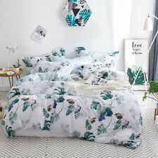 Cotton Floral Design Quilt Doona Duvet Covers Set Single Queen King Size Bed New