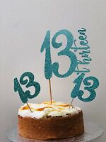 Cupcake Toppers,Any Age,13th Birthday,16,18,21,30,40,50,60,70,80,90,100'th Birtd