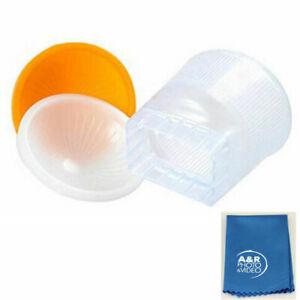 UNI Cloud Lambency Flash Diffuser Orange White Dome Cover for Nikon SB600 SB800