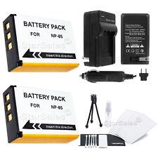 2x NP-85 Battery+Charger f/ Fuji FinePix S1 SL240 SL260 SL280 SL300 SL305 SL1000