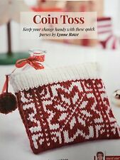 KNITTING PATTERN Ladies Snowflake Coin Purse Fair Isle Debbie Bliss PATTERN