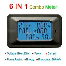 AC Meter Voltmeter Spannung 110V 220V Amperemeter 50A Power Factor KWH Frequenz