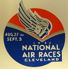1932 NATIONAL AIR RACES WATER TRANSFER DECAL