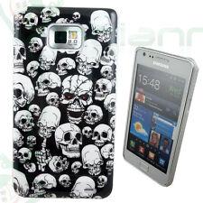 Pellicola+Custodia cover EVIL SKULLS per Samsung Galaxy S2 i9100 Nuovo SII