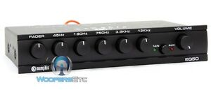 MEMPHIS EQ-50 CAR AUDIO FIVE BAND GRAPHIC EQUALIZER for SUBWOOFER AMPLIFIER NEW