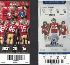 2012-13 NFL NFC PLAYOFFS PACKERS & FALCONS VS 49ERS FULL UNUSED FOOTBALL TICKETS