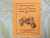Allis Chalmers WD-45 Operators Parts Manual