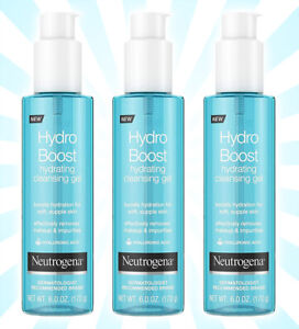 3 Neutrogena Hydro Boost Hydrating Cleansing Gel 6 OZ