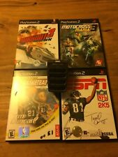 """Lot of 4 """"SPORTS"""" PS2 Games with Bonus 4 Slot Memory Card Adapter!! USED. Good."""
